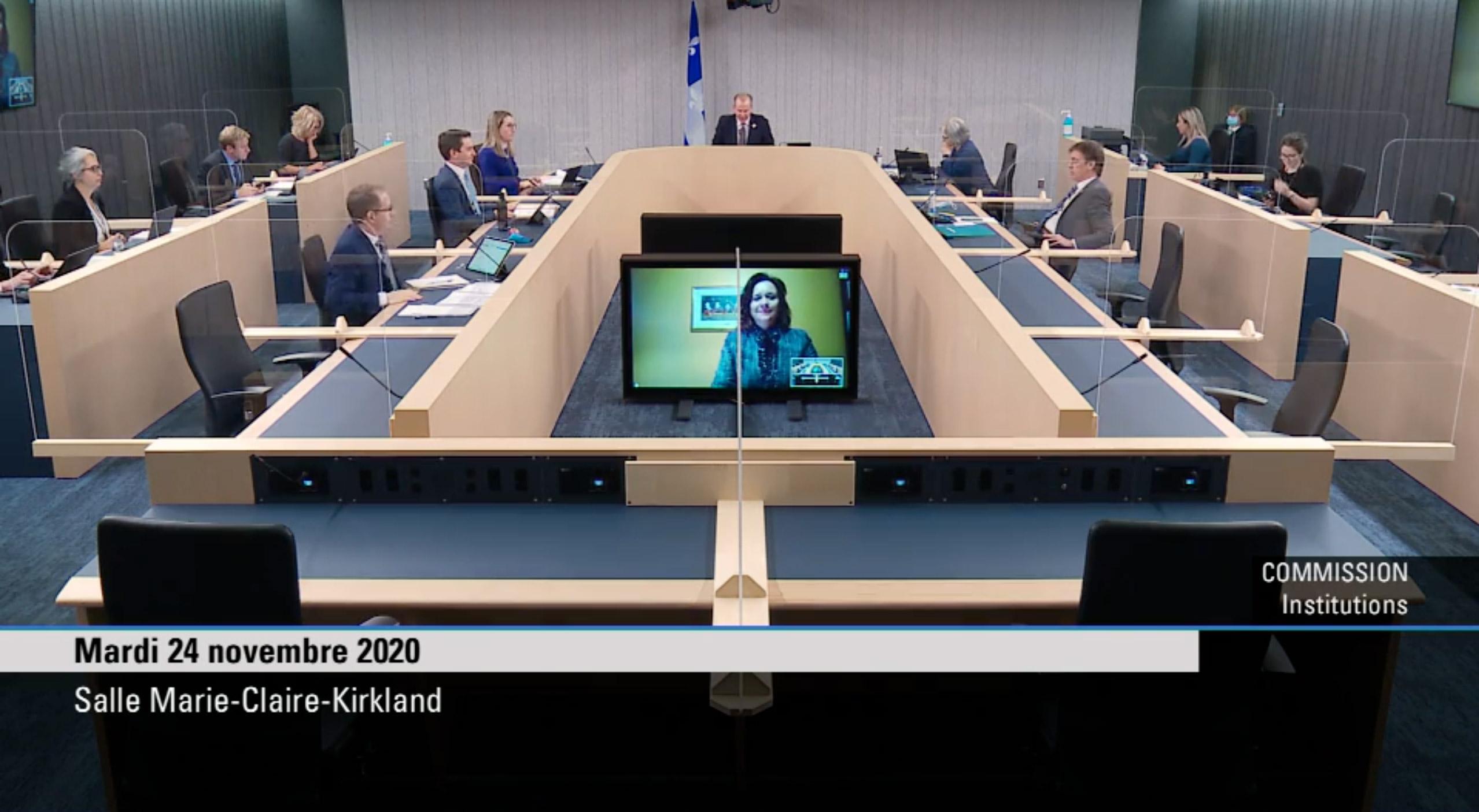 Audition en commission parlementaire - Loi 75